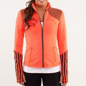 Lululemon Forme Coral Black Striped jacket